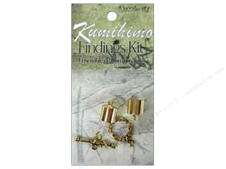 beading & jewelry making supplies: Dazzle It Kumihimo Finding Kit 10 mm Gold