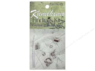 beading & jewelry making supplies: Dazzle It Kumihimo Finding Kit 5 mm Silver