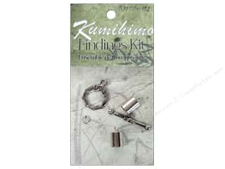 beading & jewelry making supplies: Dazzle It Kumihimo Finding Kit 7 mm Silver