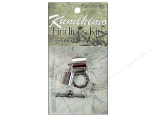 beading & jewelry making supplies: Dazzle It Kumihimo Finding Kit 10 mm Silver