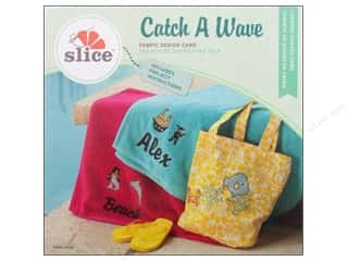 die cutting machines: Slice Fabric Design Card Catch A Wave