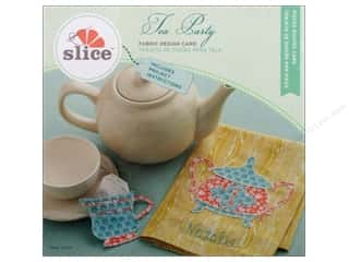 die cutting machines: Slice Fabric Design Card Tea Party