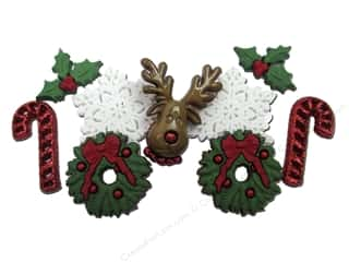 jesse james dress it up Christmas buttons: Jesse James Dress It Up Embellishments Christmas Collection Deck the Halls