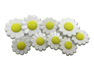 craft & hobbies: Jesse James Dress It Up Embellishments Daisies