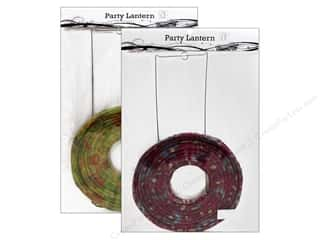 "craft & hobbies: Sierra Pacific Crafts Decor Lantern Paper Large 20"" Floral Assorted Pink or Green"