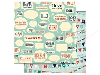 Clearance Petaloo Color Me Crazy: Bo Bunny 12 x 12 in. Paper Family Is Collection Happy (25 sheets)