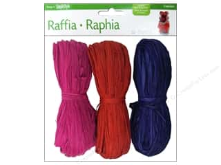 raffia: FloraCraft Raffia Purple/Red/Fuchsia 3 piece