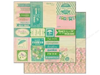 Spring Printed Cardstock: Authentique 12 x 12 in. Paper Seasons Spring Collection Enhancement (25 sheets)