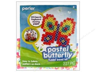 Weekly Specials Beadalon Bead Boards: Perler Fused Bead Kit Trial Pastel Butterfly