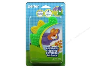 beading & jewelry making supplies: Perler Small Shaped Pegboards 4 pc.