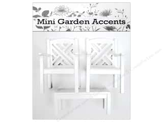 Sierra Pacific Crafts Decor Chairs & Coffee Table Set Mini Wood White