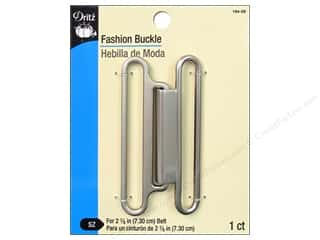 dry cleaned secure: Fashion Buckle by Dritz 3 in. Brushed Nickel