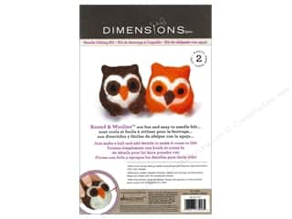 Weekly Specials Needle Felting: Dimensions Needle Felting Kit Round & Woolies Owls