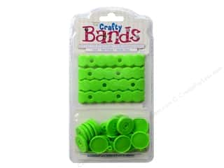 beading & jewelry making supplies: Epiphany Accessories Crafty Bands Refill Lime
