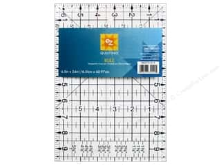 ruler: EZ Quilting Easy Rule II Acrylic Ruler 6 1/2  x 24 in.