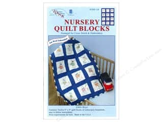 square hoop: Jack Dempsey 9 in. Quilt Blocks 12 pc. Little Boys