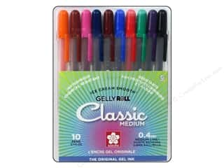 craft & hobbies: Sakura Gelly Roll Pen Medium Point Set Assorted Color 10 pc.