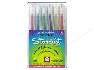 craft & hobbies: Sakura Gelly Roll Pen Stardust Set Galaxy 6 pc.