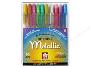 craft & hobbies: Sakura Gelly Roll Metallic Pen Set 10 pc