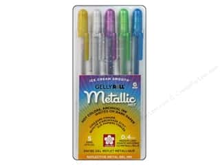 craft & hobbies: Sakura Gelly Roll Metallic Pen Set Hot 5 pc