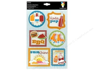 theme stickers  summer: Imaginisce Stickers Endless Summer Stacker BBQ