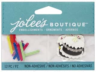 Party Candles / Birthday Candles: Jolee's Boutique Embellishments Birthday Candles and Cakes