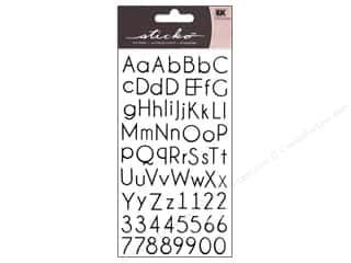 scrapbooking & paper crafts: EK Sticko Alphabet Stickers Small Thin Upright Black