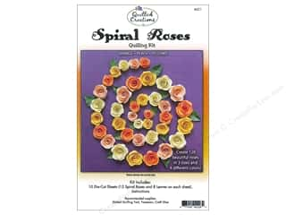 projects & kits: Quilled Creations Quilling Kit Spiral Roses Orange, Peach, Yellows