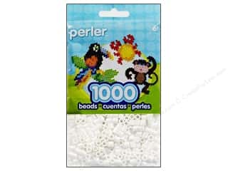 beading & jewelry making supplies: Perler Beads 1000 pc. White