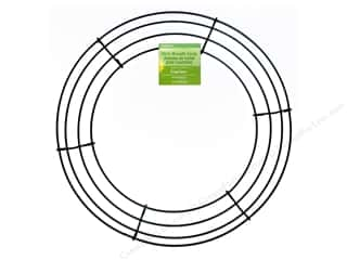 Wreaths: FloraCraft Wire Wreath Form 12 in. Green