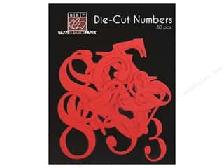 Bazzill: Bazzill Die-Cut Numbers 30 pc. Fire Hearts