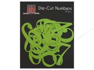 Bazzill: Bazzill Die-Cut Numbers 30 pc. Intense Kiwi