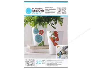Martha Stewart Glass Paintable by Plaid Cling Flowers And Leaves