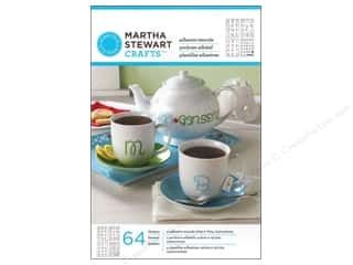Martha Stewart Stencils by Plaid Adhesive Glass Looped Script Alphabet