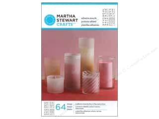 Martha Stewart Stencils by Plaid Adhesive Glass Fancy Alphabet