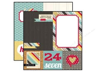 Simple Stories: Simple Stories 12 x 12 in. Paper 24/Seven Quote & Photo Mat Elements (25 sheets)