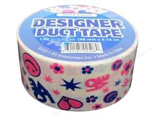 Clearance Clearsnap Design Adhesives : Designer Duct Tape Peace & Love 10 yd.