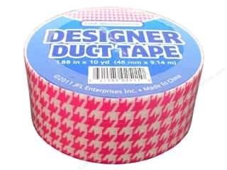 Clearance Clearsnap Design Adhesives : Designer Duct Tape Pink Houndstooth 10 yd.