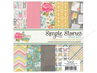 "Bo Bunny Paper Pads 6""x 6"": Simple Stories Paper Pad 6""x 6"" Vintage Bliss"