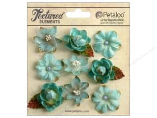 Petaloo Textured Elements Mini Blossoms Teal