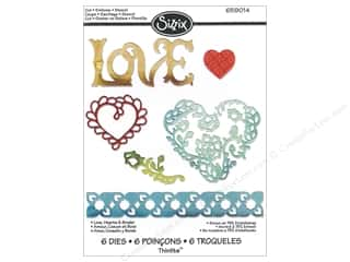 die cutting machines: Sizzix Thinlits Die Set 6 pc. Love, Hearts & Border