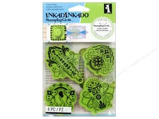 Inkadinkado InkadinkaClings Stamping Gear Rubber Stamp Birthday Fiesta