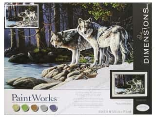Projects & Kits: Paintworks Paint By Number Kit 20 x 14 in. Gray Wolves