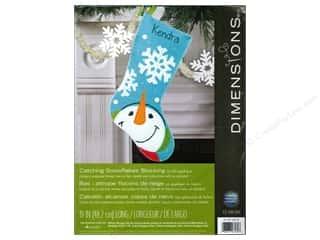 snowflake punch: Dimensions Applique Kit Felt Catching Snowflakes Stocking