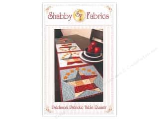 Table Runners / Kitchen Linen Patterns: Shabby Fabrics Patchwork Patriotic Table Runner Pattern