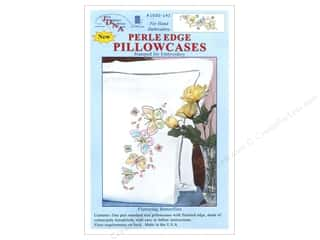 yarn & needlework: Jack Dempsey Pillowcase Perle Edge White Fluttering Butterflies