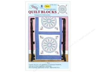 square hoop: Jack Dempsey 18 in. Quilt Blocks 6 pc. Fan