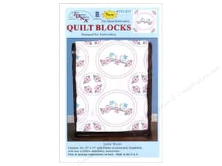 Jack Dempsey 18 in. Quilt Blocks 6 pc. Love Birds