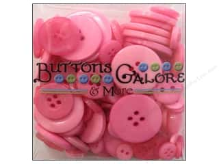 novelties: Buttons Galore Button Totes 3.5 oz. Bright Pink