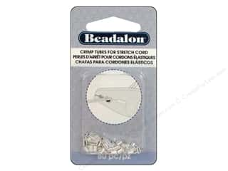 beading & jewelry making supplies: Beadalon Crimp Tubes for Stretch Cord 0.8 mm Silver Plated 80 pc.